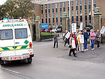 Nurses striking outside Our Lady of Lourdes Hospital..Picture Paul Mohan Newsfile