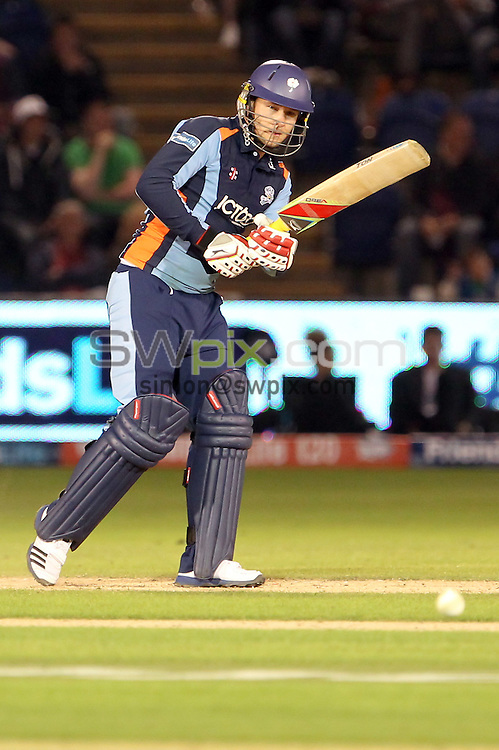 PICTURE BY ALEX WHITEHEAD/SWPIX.COM - Cricket -  FriendsLife T20 Final - Yorkshire Carnegie v Hampshire Royals - Swalec Stadium, Cardiff, Wales - 25/08/12 - Yorkshire's David Miller hits out.