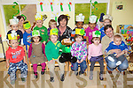 Noreen Allen  (Centre Back) with the children from Brookview Childcare, Sundays Well, Tralee getting ready for Saint Patricks Day on Thursday.