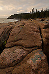 Early Light on Rocky Shore, Acadia National Park, Maine