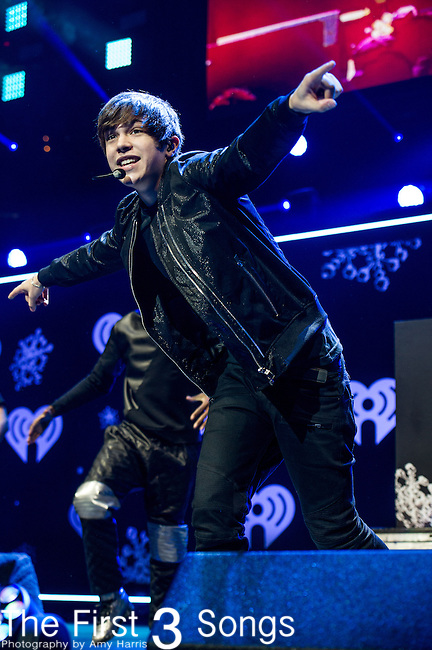 Austin Mahone performs onstage during Hot 99.5's Jingle Ball 2013 presented by Overstock.com, at the Verizon Center on December 17, 2013 in Washington, D.C.