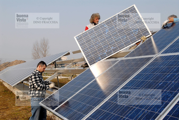 - assembling of a photovoltaic power station in northern Italy.<br />
