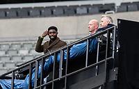 The BBC team of Micah Richards, Alan Shearer and Gary Lineker watch on<br /> <br /> Photographer Alex Dodd/CameraSport<br /> <br /> FA Cup Quarter-Final - Newcastle United v Manchester City - Sunday 28th June 2020 - St James' Park - Newcastle<br />  <br /> World Copyright © 2020 CameraSport. All rights reserved. 43 Linden Ave. Countesthorpe. Leicester. England. LE8 5PG - Tel: +44 (0) 116 277 4147 - admin@camerasport.com - www.camerasport.com