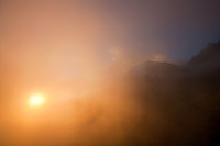 Sunset from the Cabane du Mont Fort, Switzerland.