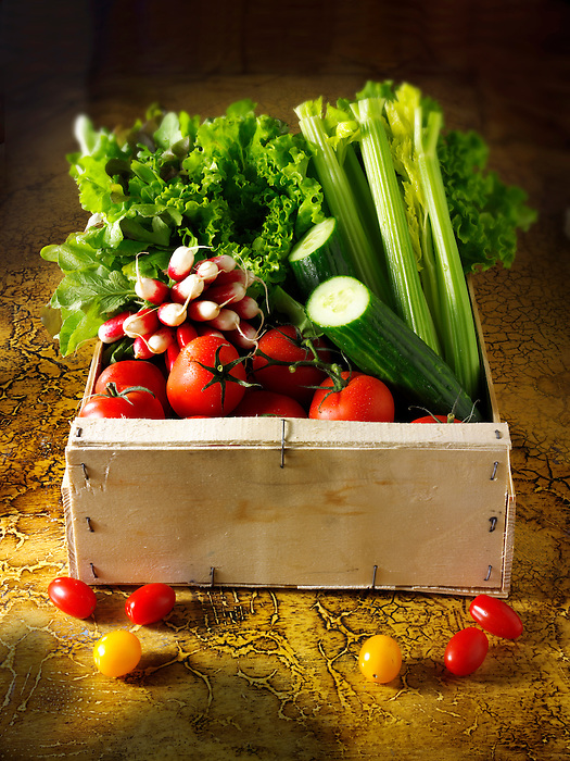 Box of Salad vegetables