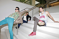 Rap Genius creators Tom Lehman, 28, Mahbod Moghadam, 29, and Ilan Zechory, 28, at their headquarters in Williamsburg. ..Danny Ghitis for The New York Times