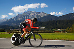 Martina Ritter (AUT) in action during the Elite Women Individual Time Trial of the 2018 UCI Road World Championships running 27.8km from Wattens to Innsbruck, Innsbruck-Tirol, Austria 2018. 25th September 2018.<br /> Picture: Innsbruck-Tirol 2018/Dario Belingheri | Cyclefile<br /> <br /> <br /> All photos usage must carry mandatory copyright credit (&copy; Cyclefile | Innsbruck-Tirol 2018/Dario Belingheri)