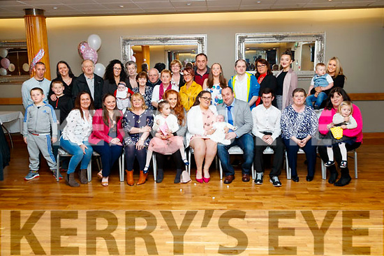 Sinead O'Shea and Garry Fletton, St. Brendan's Park, Tralee, who had their baby daughter Emily christened on Saturday and held a family celebration afterwards in Ballyroe Heights Hotel, Tralee, also pictured were godparents Damian Murphy and Aisling Nicholson.