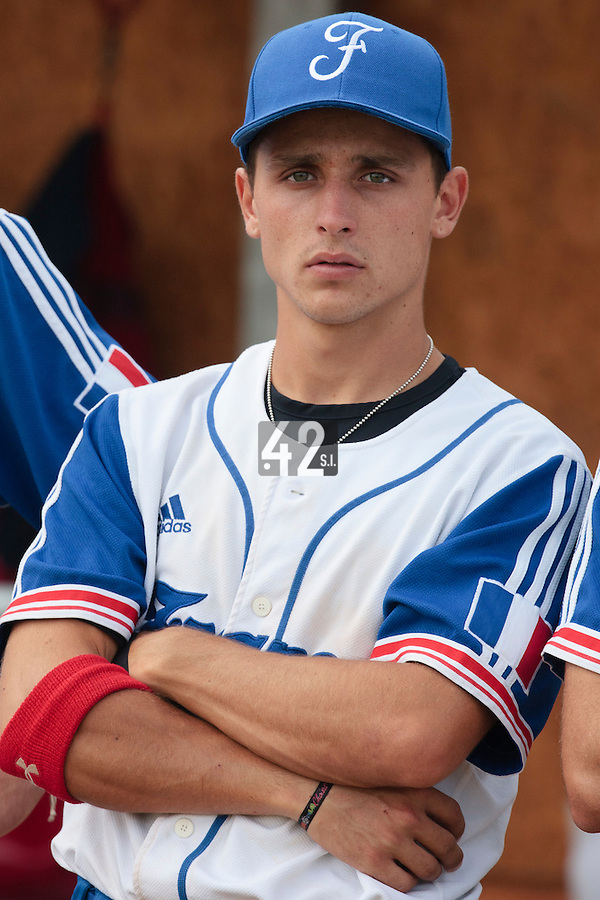 19 August 2010: Matt Lapinski of Team France is seen prior to France 7-6 win over Slovakia, at the 2010 European Championship, under 21, in Brno, Czech Republic.