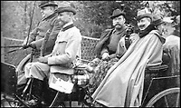 BNPS.co.uk (01202 558833)Pic: TheEurohistoryPhotoArchive/BNPS<br /> <br /> Nicholas II and the Kaiser.<br /> <br /> A Russian Grand Duke branded King George V a 'scoundrel' who 'did not lift a finger' to save the Romanov family in the revolution there of 1917, explosive diaries have revealed.<br /> <br /> The cousin of the overthrown Russian Royal family blamed the British King for their executions because he failed to grant them refuge.<br />  <br /> Dmitri Pavlovich no-holds-barred diary extracts have been published for the first time in a new book by respected historian Coryne Hall, To Free The Romanovs.