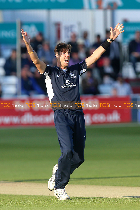 Steven Finn of Middlesex appeals for a wicket during Essex Eagles vs Middlesex, Royal London One-Day Cup Cricket at The Cloudfm County Ground on 12th May 2017