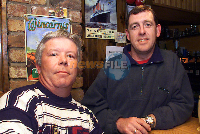 Micheal O'Shea and Peter Briscoe pictured enjoying a night at the 19th Hole in Baltray..Picture: Arthur Carron/Newsfile