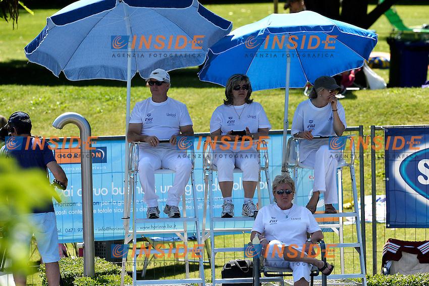 Giudici - Judges <br /> Bolzano 30/6/2013 Piscina Lido<br /> 19th Fina Diving Grand Prix <br /> Trampolino 3m Uomini Sincro - diving Synchro Springboard 3m Men <br /> Tuffi <br /> Foto Andrea Staccioli Insidefoto