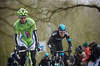 Gent-Wevelgem 2013.Peter Sagan (SVK) up the Kemmelberg.