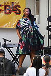 Model walk in a Raiff L'Atelier outfit by Raiff during Harlem Week 2017 at 135th Street and St. Nicholas Avenue in New York City on August 19, 2017. A model walks in a Raiff L'Atelier outfit by Raiff during Harlem Week 2017 at 135th Street and St. Nicholas Avenue in New York City on August 19, 2017.