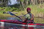 Kayaking, alligators, Myakka River State Park, Florida, Tampa Bay, Gulf Coast, USA, Kristin Nelson, released, Alligator mississippiensis;