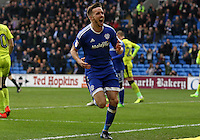 Craig Noone of Cardiff City celebrates scoring his sides third goal of the match during the Sky Bet Championship match between Cardiff City and Rotherham United at the Cardiff City Stadium, Wales, UK. 18 February 2017