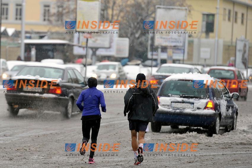 Neve a Roma..Roma 3/02/2012 .Foto Insidefoto Alfredo Falcone
