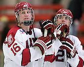 Alex Fallstrom (Harvard - 16) (Everson) - The Harvard University Crimson defeated the St. Lawrence University Saints 4-3 on senior night Saturday, February 26, 2011, at Bright Hockey Center in Cambridge, Massachusetts.