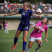 STANFORD, CA - OCTOBER 12: Belle Briede #4 of the Stanford Cardinal during a game between the Stanford Cardinal and Washington Huskies women's soccer teams at Cagan Stadium on October 6, 2019 in Stanford, California. during a game between University of Washington and Stanford Soccer W at Laird Q. Cagan Stadium on October 12, 2019 in Stanford, California.