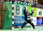 Stockholm 2015-10-15 Handboll Elitserien Hammarby IF - Eskilstuna Guif :  <br /> Eskilstuna Guifs m&aring;lvakt Herdeiro Lucau sl&auml;pper in ett m&aring;l av Hammarby under matchen mellan Hammarby IF och Eskilstuna Guif <br /> (Foto: Kenta J&ouml;nsson) Nyckelord:  Handboll Eriksdalshallen Hammarby HIF Bajen Eskilstuna Guif