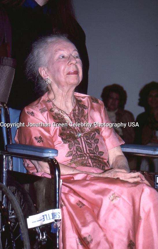 Agnes de Mille 1988 By Jonathan Green<br /> at Adelphi University, Garden City NY.