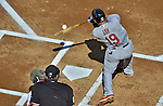 10 October 2012: St. Louis Cardinals outfielder Jon Jay in action during Postseason Playoff Game 3 of the National League Divisional Series against the Washington Nationals at Nationals Park in Washington, DC. The Cardinals shut out the Nationals 8-0 in the third game of their best of five series, giving St. Louis a 2-1 lead in the playoff. Mandatory Credit: Ed Wolfstein Photo