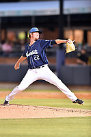 Asheville Tourists pitcher Robert Tyler (22) delivers a pitch during a game against the Columbia Fireflies at McCormick Field on April 12, 2018 in Asheville, North Carolina. The Fireflies defeated the Tourists 7-5. (Tony Farlow/Four Seam Images)