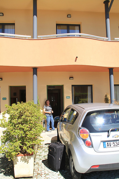 Beth at the Hotel Luna in Arona, along Lake Maggiore, lake district in northern Italy.