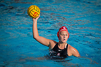 STANFORD, CA - February 4, 2018: Lauren Bywater at Avery Aquatic Center. The Stanford Cardinal defeated Long Beach State 14-2.