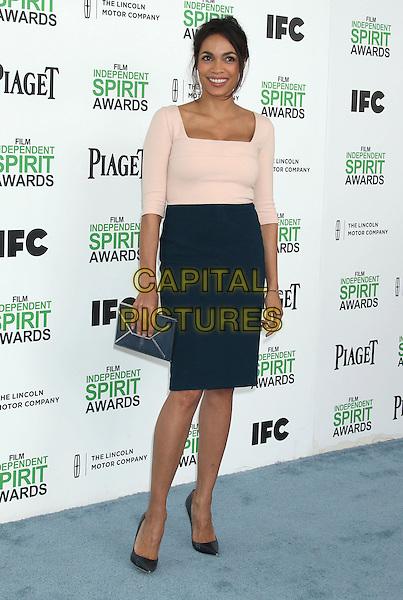 1 March 2014 - Santa Monica, California - Rosario Dawson. 2014 Film Independent Spirit Awards held at Santa Monica Beach. <br /> CAP/ADM/RE<br /> &copy;Russ Elliot/AdMedia/Capital Pictures