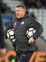 Leicester City Manager Craig Shakespeare during the warm up before the Premier League match between Leicester City v Sunderland played at King Power Stadium, Leicester on 4th April 2017.<br /> <br /> available via IPS Photo Agency only