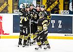Stockholm 2014-12-01 Ishockey Hockeyallsvenskan AIK - S&ouml;dert&auml;lje SK :  <br /> AIK:s Joakim Hagelin firar sitt 3-1 m&aring;l med Johan Andersson , Ryan McKiernan Dennis Nordstr&ouml;m och Jordan Hendry  under matchen mellan AIK och S&ouml;dert&auml;lje SK <br /> (Foto: Kenta J&ouml;nsson) Nyckelord:  AIK Gnaget Hockeyallsvenskan Allsvenskan Hovet Johanneshov Isstadion S&ouml;dert&auml;lje SSK jubel gl&auml;dje lycka glad happy