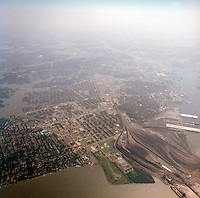 1998 September 05..Aerial..High altitude of census tracts around Elizabeth River in Portsmouth & Norfolk..Gene Woolridge.NEG# 11678 - 33.NRHA#..