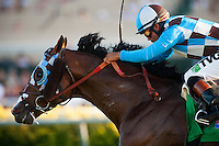 My Best Brother with Martin Garcia up wins the Del Mar Derby at Del Mar Race Course in Del Mar, California on September 02, 2012.