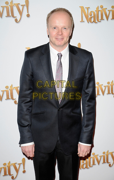 "JASON WATKINS .Attending the ""Nativity!"" VIP Screening, Barbican cinema, London, England, UK, .November 25th 2009..arrivals half length grey gray suit tie white shirt .CAP/CAN.©Can Nguyen/Capital Pictures"