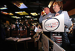 Supporters Rob and JoAnn Morrison, of Reno, wait for Republican presidential candidate Newt Gingrich at a campaign stop at the Great Basin Brewing Company in Reno, Nev., on Wednesday, Feb. 1, 2012..Photo by Cathleen Allison