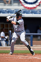 Daytona Tortugas designated hitter Chad Wallach (15) at bat during a game against the Charlotte Stone Crabs on April 14, 2015 at Charlotte Sports Park in Port Charlotte, Florida.  Charlotte defeated Daytona 2-0.  (Mike Janes/Four Seam Images)