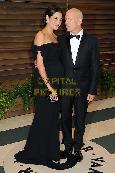 02 March 2014 - West Hollywood, California - Emma Heming, Bruce Willis. 2014 Vanity Fair Oscar Party following the 86th Academy Awards held at Sunset Plaza.  <br /> CAP/ADM/BP<br /> &copy;Byron Purvis/AdMedia/Capital Pictures