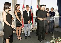 Montreal (Qc) Canada - Aug 31 2010 - Serge Losique and The jury of  the 2010 World Film Festival : Président : BILLE AUGUST, réalisateur (Danemark)<br /> IR??NE BIGNARDI, journaliste et directrice de festivals (Italie)<br /> ANNE-MARIE CADIEUX, actrice (Canada)<br /> MARWAN HAMED, réalisateur (Égypte)<br /> IGOR MINAEV, réalisateur (Ukraine-France)<br /> ÉDOUARD MOLINARO, réalisateur (France)<br /> LIJUNG TANG, directrice de festivals (Chine)