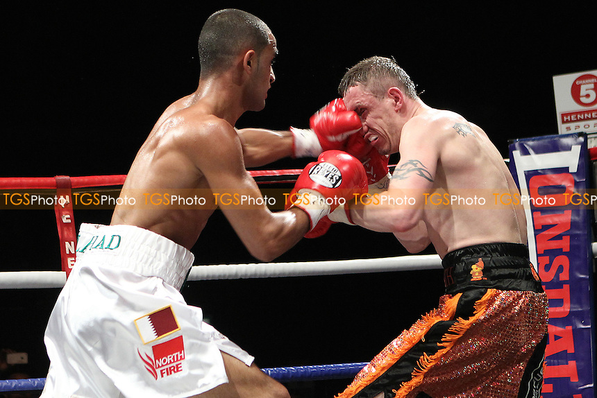 Barry Kid Galahad fights Jason Booth in Boxing contest at the Magna Centre, Rotherham, promoted by Hennessy Sports - 18/02/12 - MANDATORY CREDIT: Chris Royle/TGSPHOTO - Self billing applies where appropriate - 0845 094 6026 - contact@tgsphoto.co.uk - NO UNPAID USE...