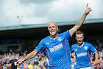 Nicky Law celebrates after his opener