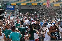 SÃO PAULO,SP,07.12.2014 - CAMPEONATO BRASILEIRO - PALMEIRAS x ATL.PARANAENSE -Torcedores do palmeiras que estão do lado de fora da  no Allianz Parque comemoram gol durante a partida entre Palmeiras x Atl.Paranaense valido pela 38º rodada do Campeonato Brasileiro na tarde deste domingo (07).(Foto Ale Vianna/Brazil Photo Press).