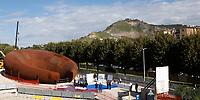 Completato il montaggio della Stazione Monte Sant'Angelo della metropolitana di Napoli progettata  dall'artista Anish Kapoor La struttura era ferma nei depositi da oltre 10 anni