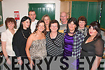 HAPPY BIRTHDAY: Bernadette Fitzgerald (front 3rd left) who celebrated her 40th birthday last Friday night in the Junction bar, Lower Camp with her mom, 6 sisters and 2 brothers. Pictured l-r: Debbie O'Connor, Carol Goodwin, Bernadette Fitzgerald, Marie Goodwin, Theresa Dermody, Mary Walsh and Geraldine Brosnan. Back l-r: Liam Goodwin, Eileen Quirke and Jack Goodwin.