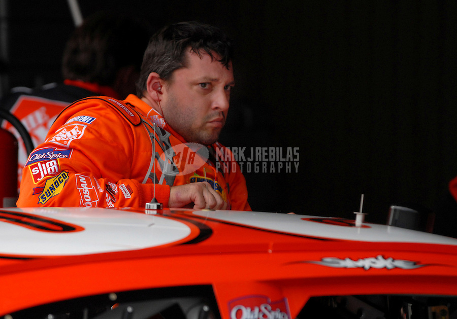 Sept. 23, 2006; Dover, DE, USA; Nascar Nextel Cup driver Tony Stewart (20) during practice for the Dover 400 at Dover International Speedway. Mandatory Credit: Mark J. Rebilas.