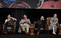 """HOLLYWOOD - MAY 29: JD Pardo, Clayton Cardenas, Edward James Olmos, and Sarah Bolger attend the FYC event for FX's """"Mayans M.C."""" at Neuehouse Hollywood on May 29, 2019 in Hollywood, California. (Photo by Frank Micelotta/FX/PictureGroup)"""