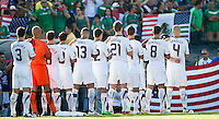 PASADENA, CA – June 25, 2011: USA Team before the Gold Cup Final match between USA and Mexico at the Rose Bowl in Pasadena, California. Final score USA 2 and Mexico 4.