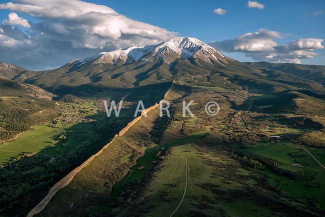 Spanish Peak, west. La Veta, Colorado.  May 28, 2015