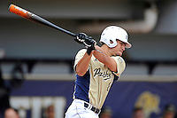4 March 2012:  FIU utility player Oscar Aguirre (8) bats as the FIU Golden Panthers defeated the Brown University Bears, 8-3, at University Park Stadium in Miami, Florida.